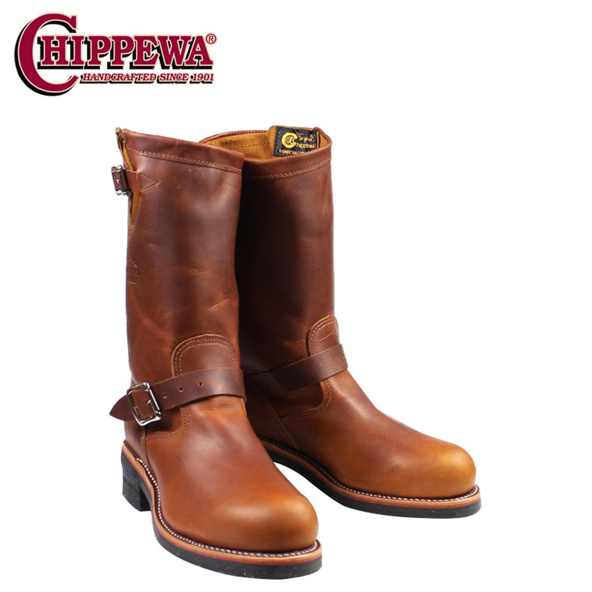 CHIPPEWA チペワ 11インチ スティールトゥ エンジニア ブーツ 11 INCH STEEL TOE ENGINEER Eワイズ レザー 1901M05 タン メンズ