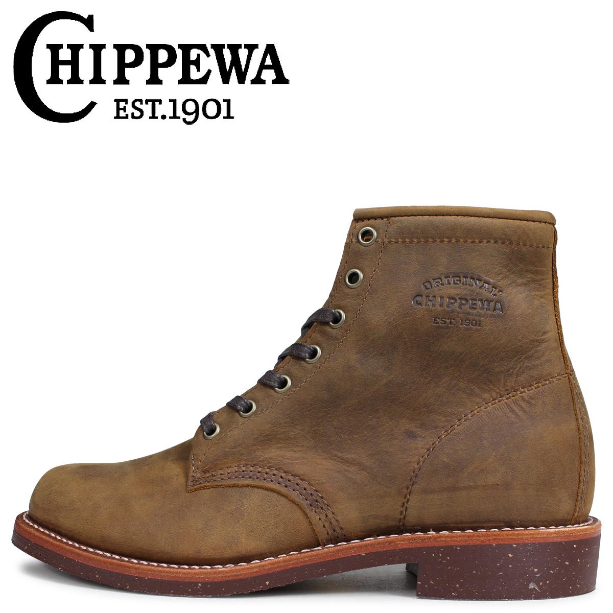 CHIPPEWA チペワ 6INCH SERVICE BOOT ブーツ 6インチ サービス ブーツ 1901M29 Dワイズ EEワイズ タン メンズ [3/30 追加入荷]