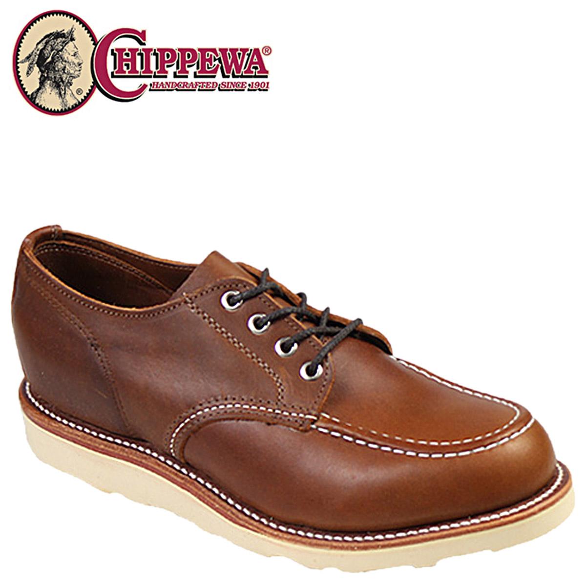 CHIPPEWA チペワ 4インチ モック トゥ ウェッジ オックスフォード シューズ 4 INCH MOC TOE WEDGE OXFORD Eワイズ レザー ブーツ 1901M41 タン メンズ