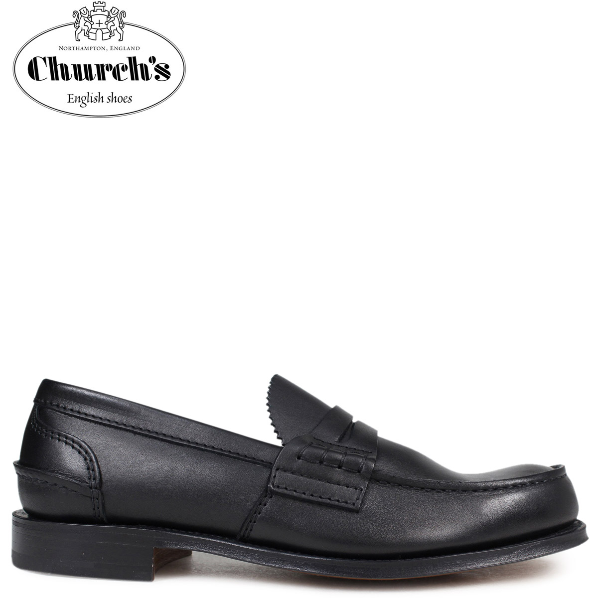 big sale 41f74 f320a Church's shoes church pen bully loafer men PEMBREY LOAFERS leather black  black EDB003