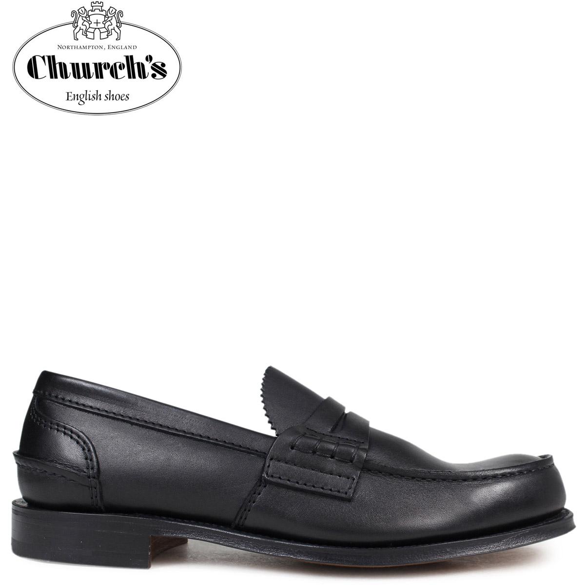 Church's 靴 チャーチ ペンブリー ローファー メンズ PEMBREY LOAFERS レザー ブラック EDB003