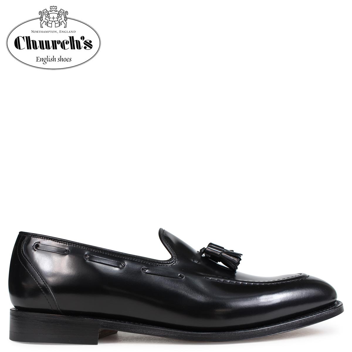 Churchs チャーチ 靴 キングスレー 2 ローファー メンズ タッセルローファー メンズ KINGSLEY 2 POLISHED BINDER EDB027 ブラック 黒