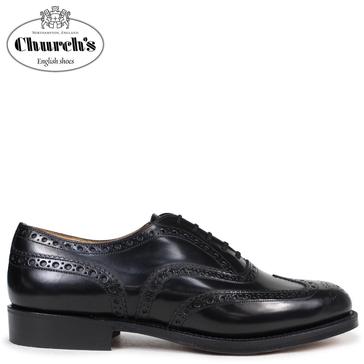 Churchs チャーチ 靴 バーウッド ウイングチップ シューズ メンズ BURWOOD レザー ブラック EEB002