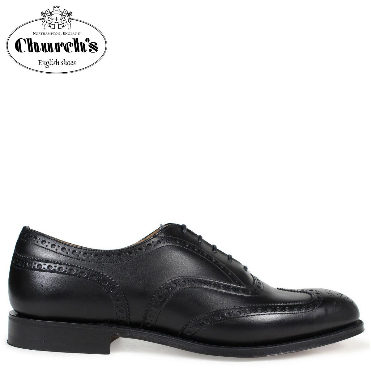 Church's 靴 チャーチ チェットウインド ウイングチップ シューズ メンズ CHETWYND レザー ブラック 黒 EEB007