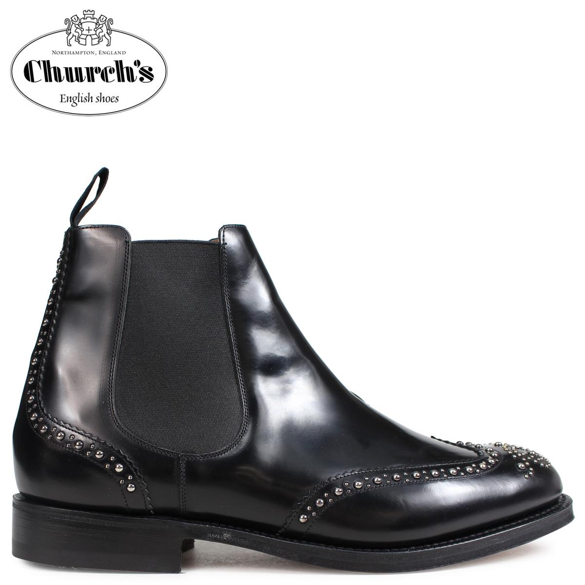 Churchs チャーチ 靴 ケッツビー 81 ブーツ サイドゴア ショートブーツ メンズ KETSBY 81 MET POLISHED BINDER ETB009 ブラック 黒