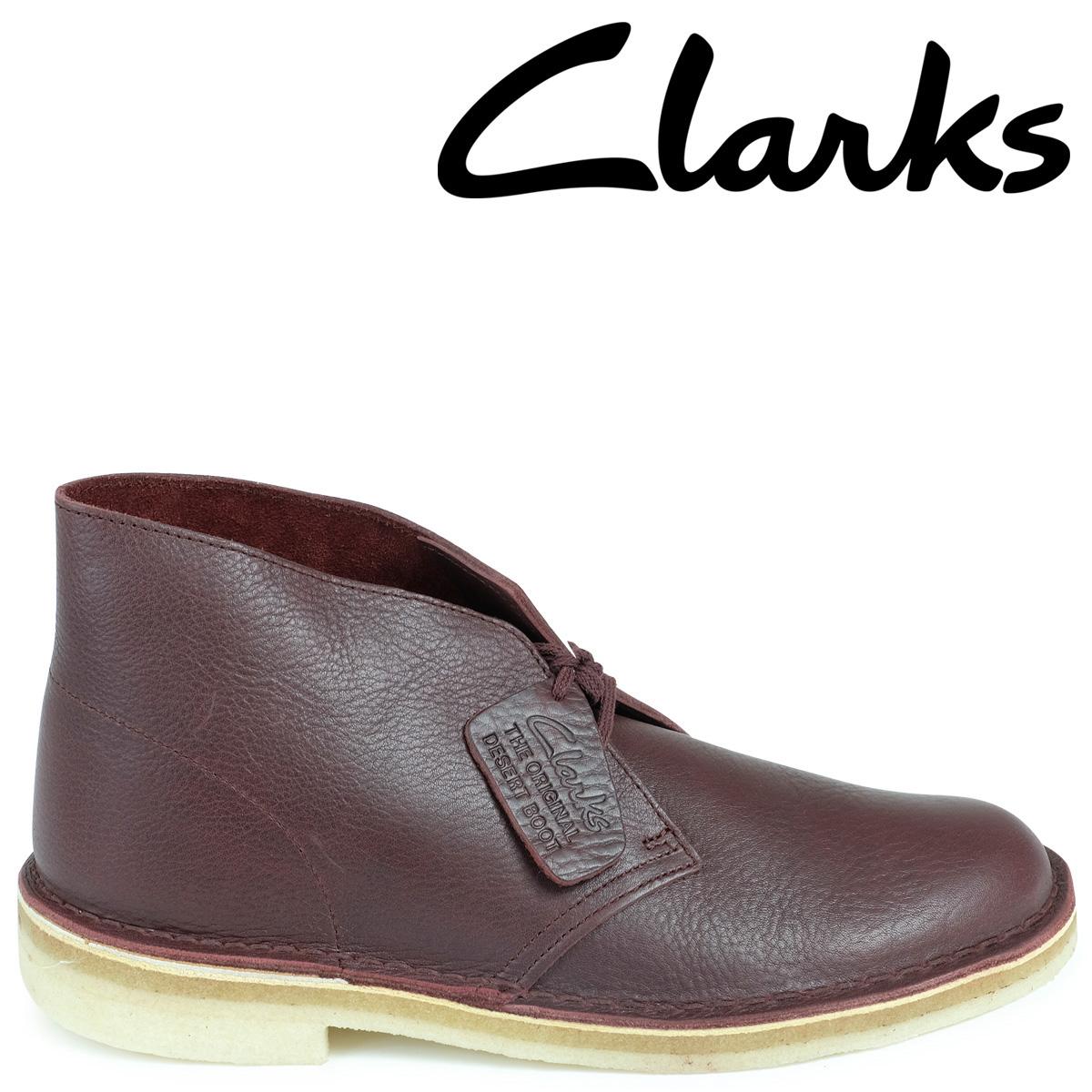 Clarks デザートブーツ メンズ クラークス DESERT BOOT 26125547 レザー 靴 バーガンディー