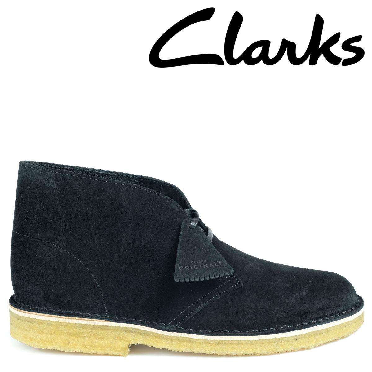 Clarks デザートブーツ メンズ クラークス DESERT BOOT 26128537 レザー 靴 ブラック 黒
