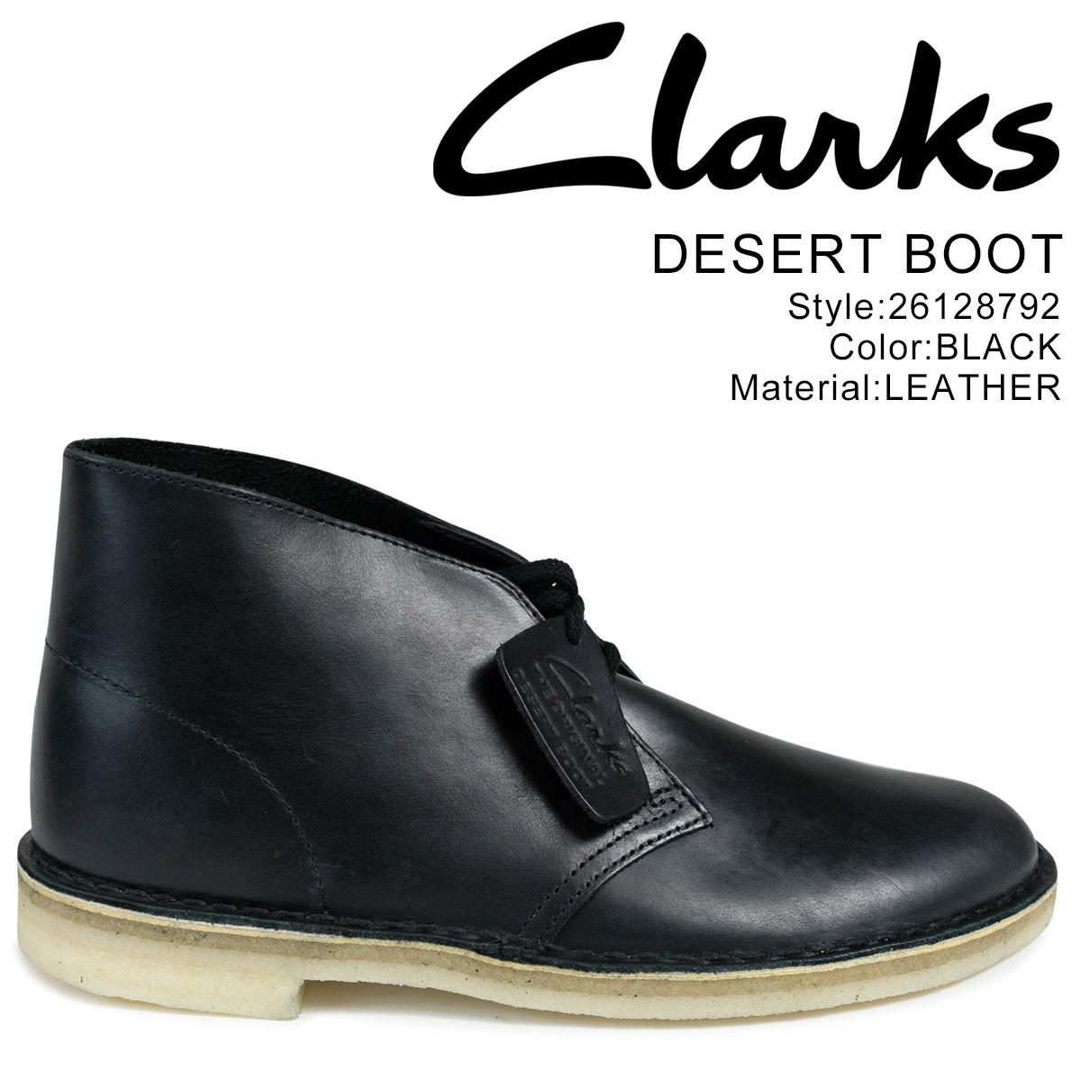Clarks デザートブーツ クラークス メンズ DESERT BOOT 26128792 レザー 靴 ブラック 黒