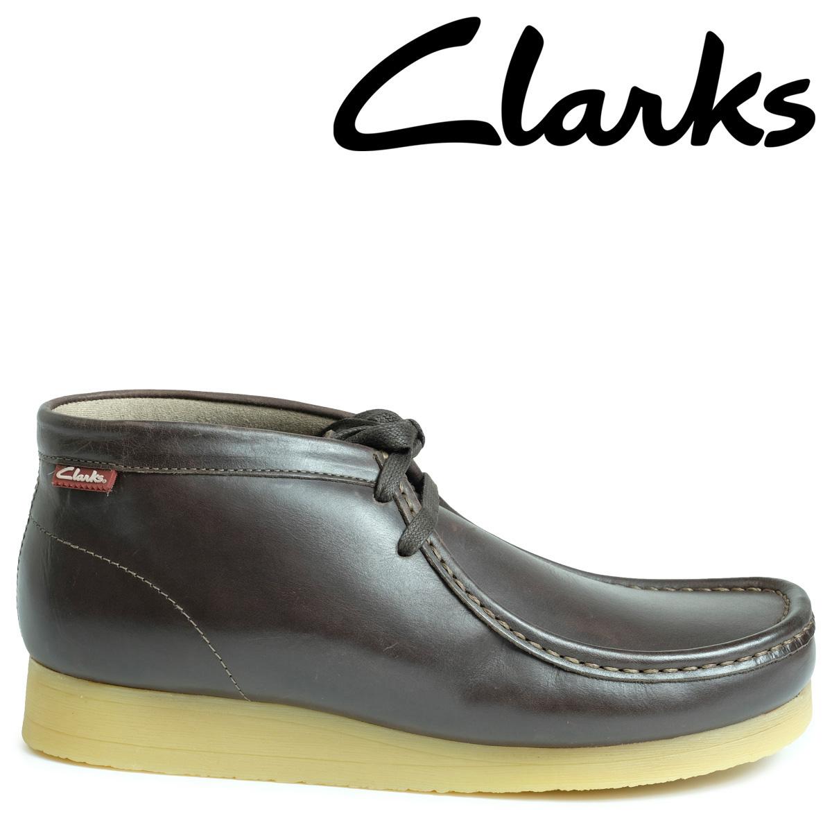 【即出荷】 Clarks ワラビー ブーツ メンズ ワラビー 靴 クラークス STINSON ブーツ HI 26129530 靴 ダークブラウン, AOIデパート:3efa0f2a --- clftranspo.dominiotemporario.com