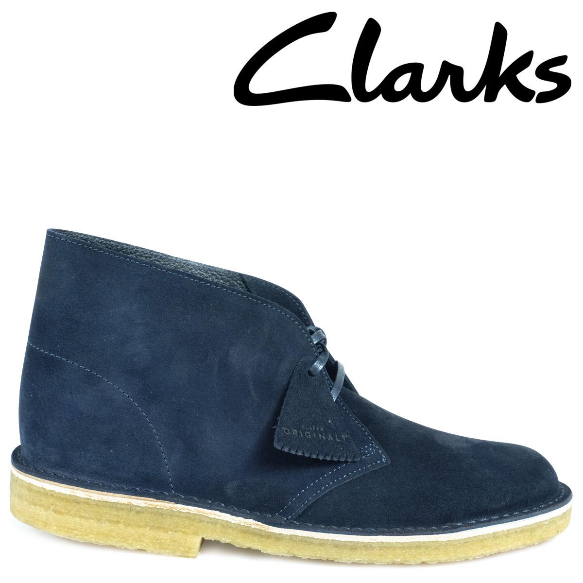 Clarks デザートブーツ メンズ クラークス DESERT BOOT 26130007 レザー 靴 ダークブルー