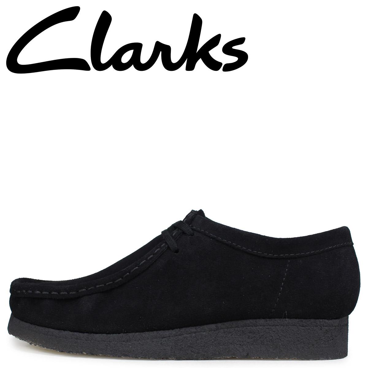Clarks クラークス ワラビー ブーツ メンズ レディース WALLABEE スエード ブラック 26133279