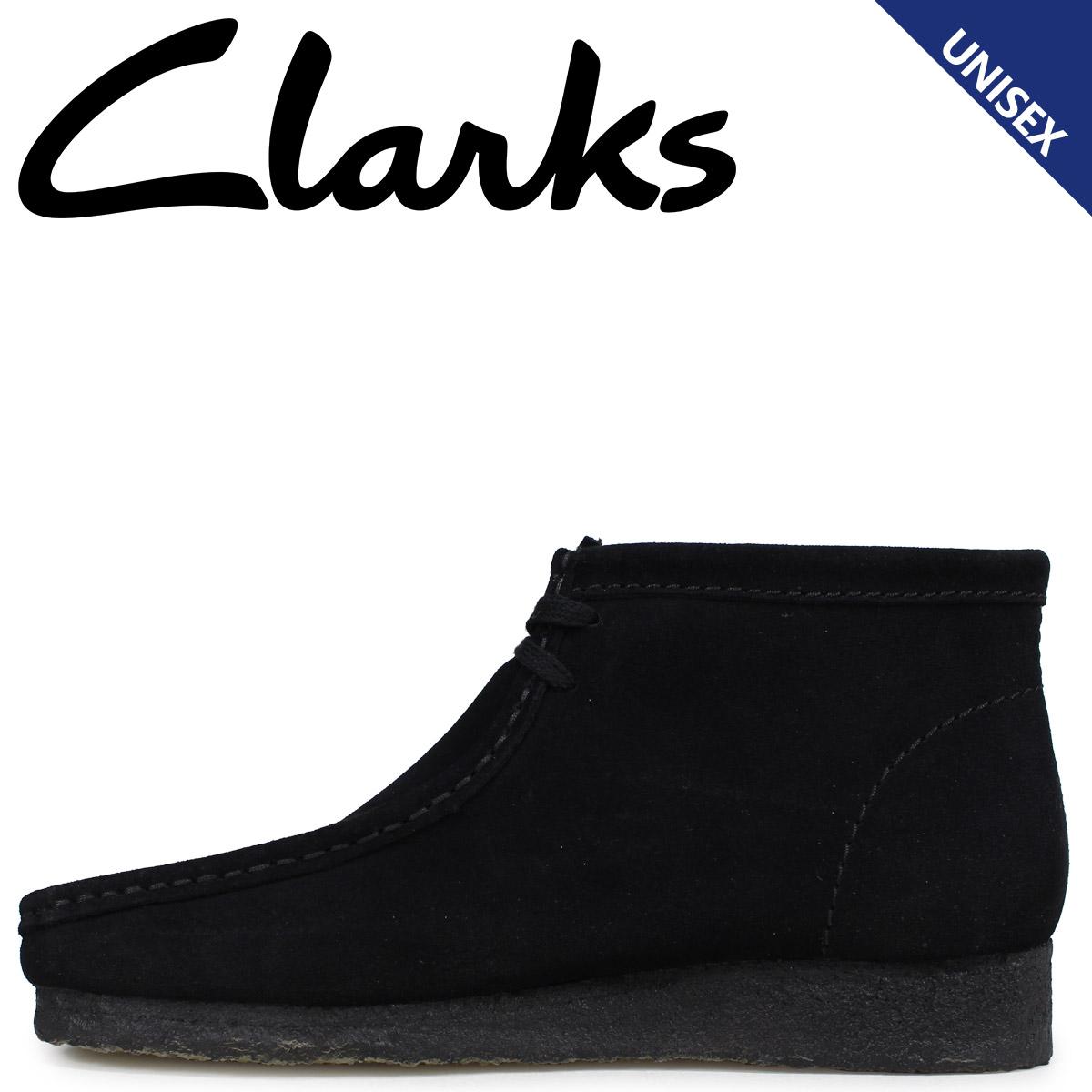 Clarks クラークス ワラビー ブーツ メンズ レディース WALLABEE スエード ブラック 26133281