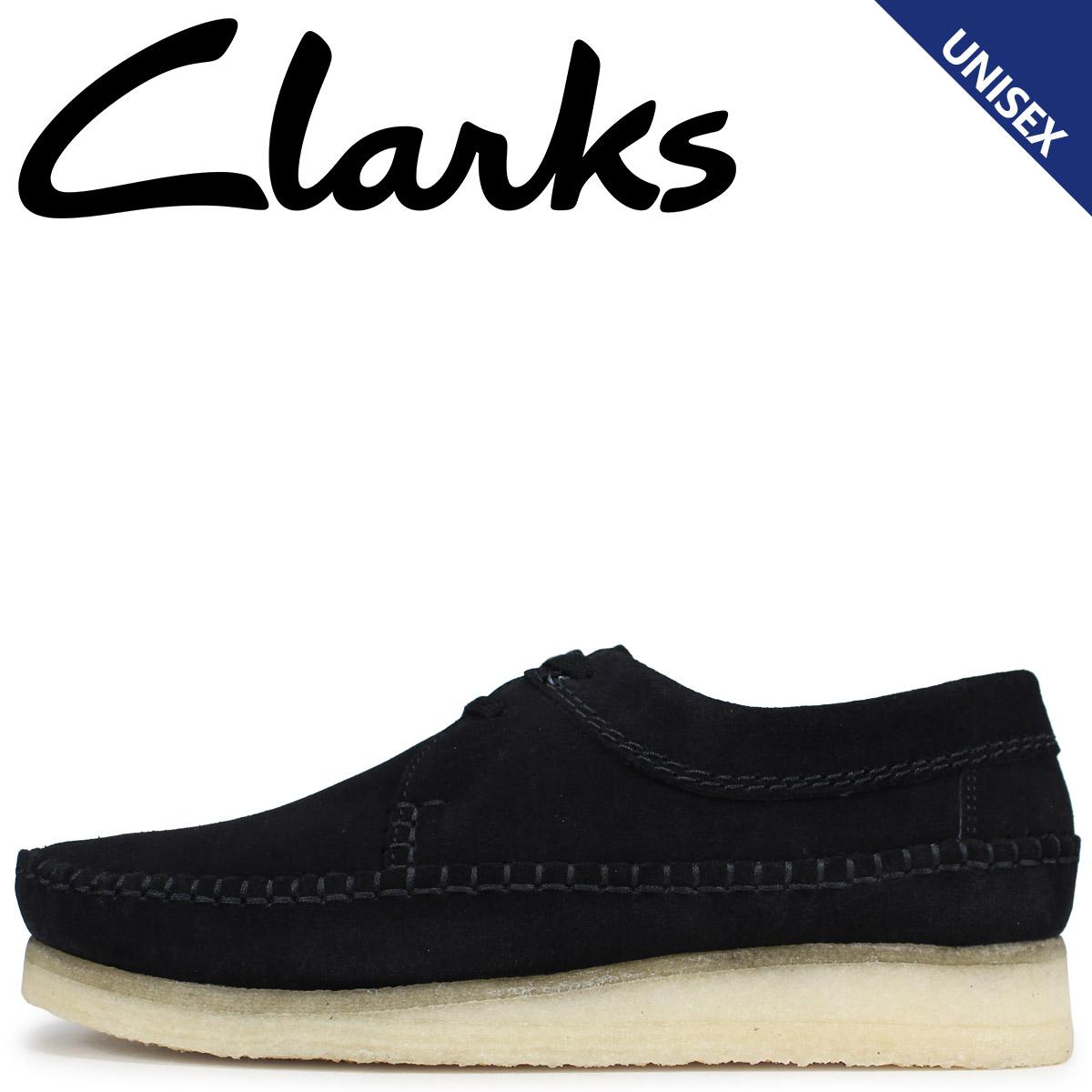 Clarks クラークス ウィーバー ブーツ メンズ レディース WEAVER スエード ブラック 26133284