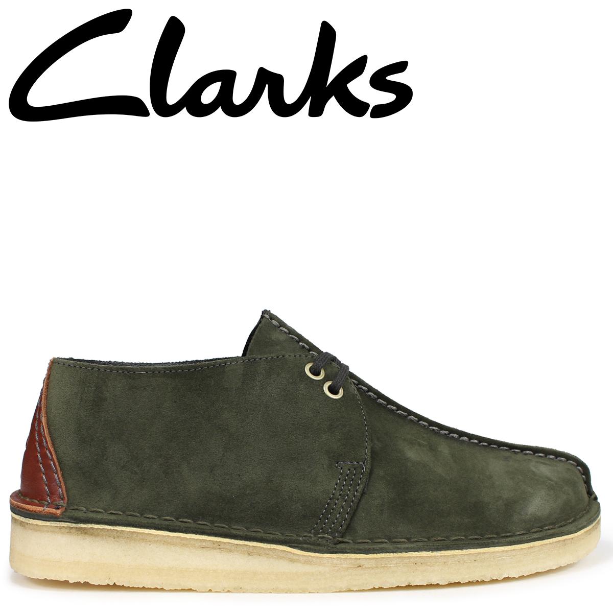 Clarks デザートトレック ブーツ メンズ クラークス DESERT TREK 26134762 ダークグリーン