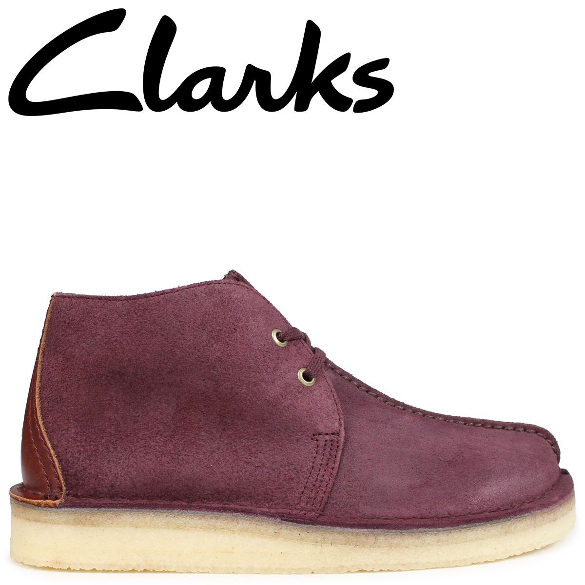 Clarks デザートトレックハイ ブーツ メンズ クラークス DESERT TREK HI 26134941 バーガンディ
