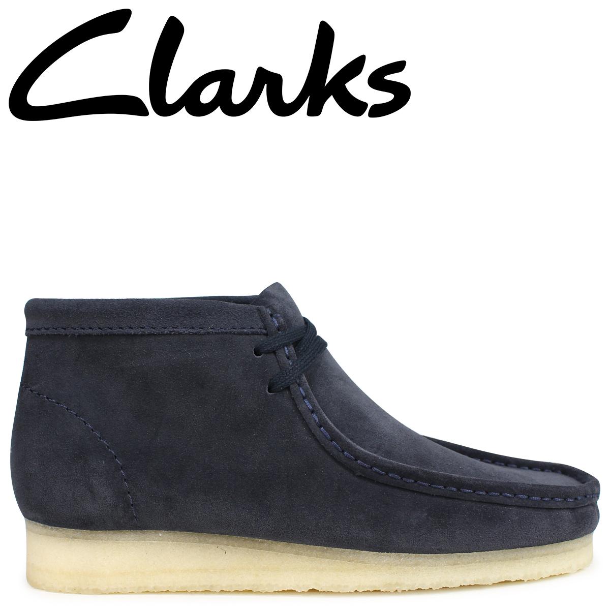 Clarks ワラビー ブーツ メンズ クラークス WALLABEE BOOT 26135225 ダークブルー [9/19 新入荷]