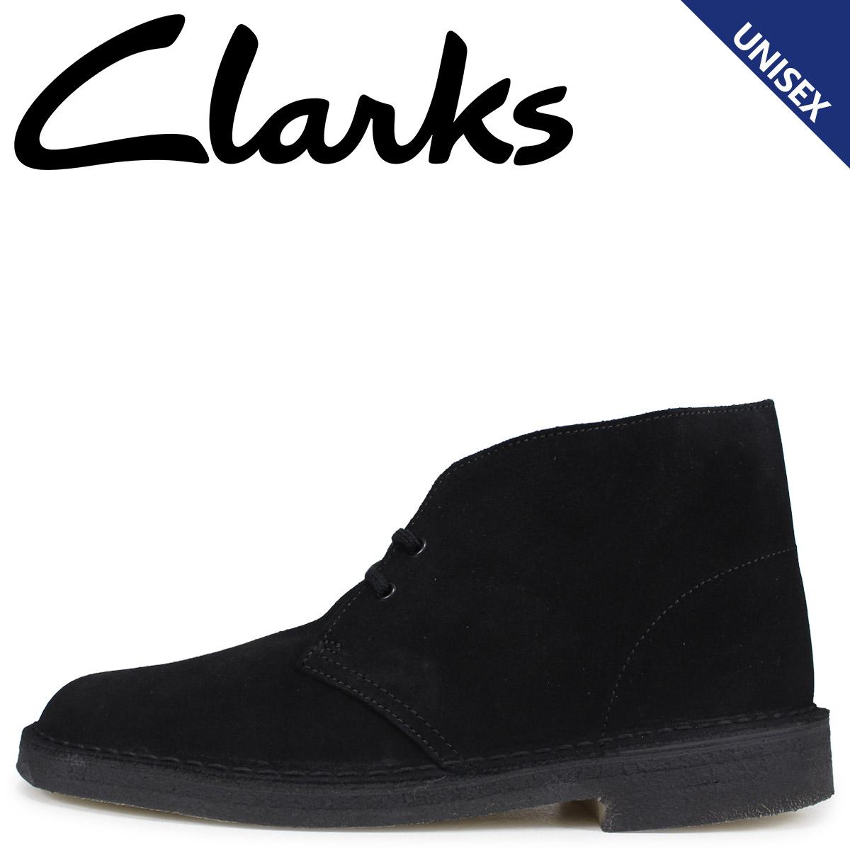 Clarks クラークス デザート ブーツ メンズ レディース DESERT BOOT スエード ブラック 26138227