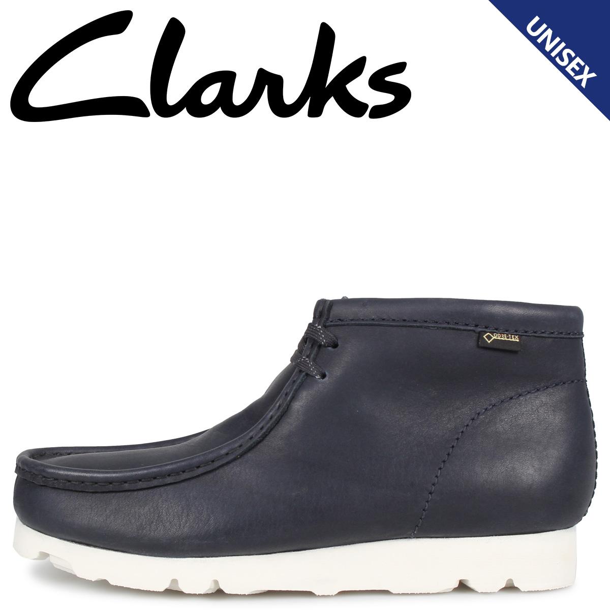 Clarks クラークス ワラビー ブーツ メンズ レディース WALLABEE GTX レザー ゴアテックス ブラック 黒 26144519