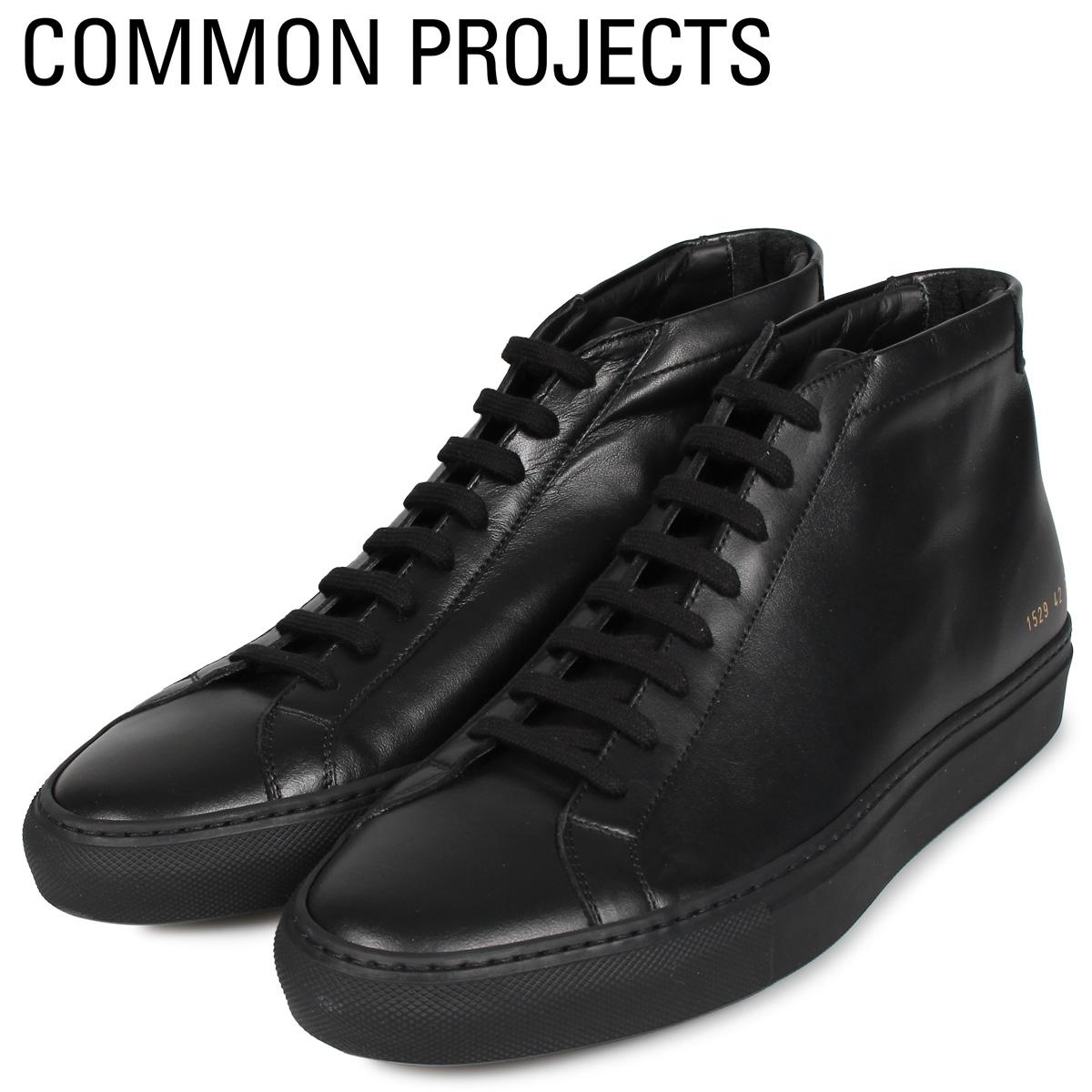 Common Projects コモンプロジェクト アキレス ミッド スニーカー メンズ ACHILLES MID ブラック 黒 1529-7547 [4/2追加入荷]