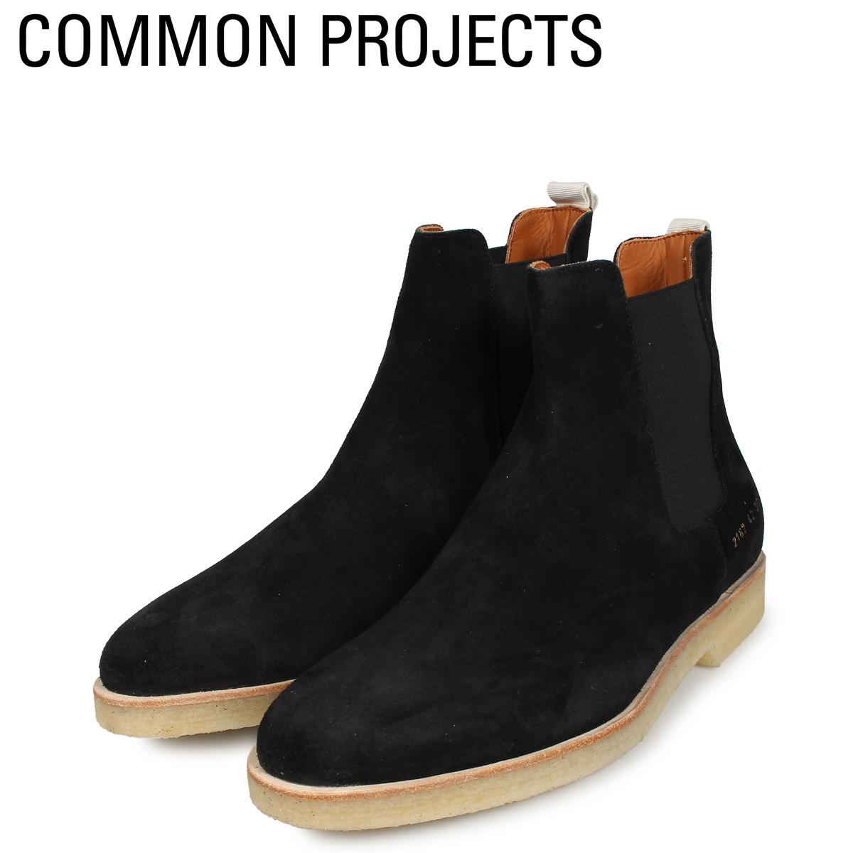 Common Projects コモンプロジェクト サイドゴア チェルシーブーツ メンズ CHELSEA BOOT IN SUEDE ブラック 黒 2167-3000