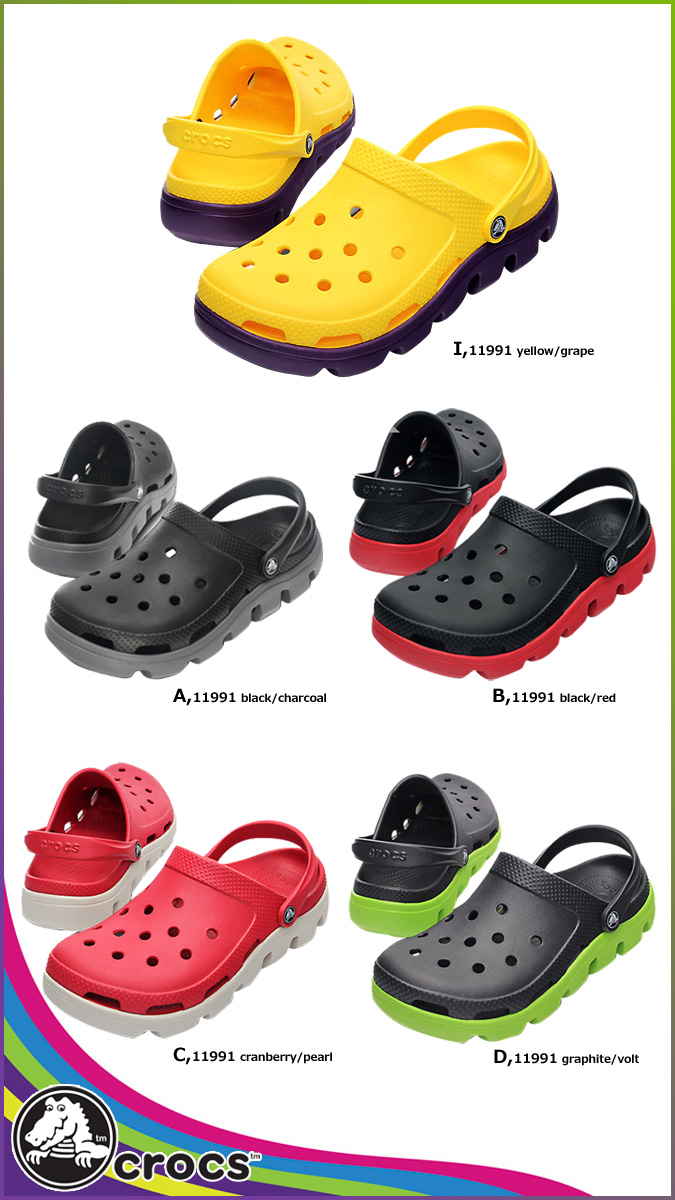 Crocs crocs Duet 体育木屐凉鞋 9 颜色 11991 DUET 体育堵塞美国真正跨轻型户外运动中性男子的 [定期]