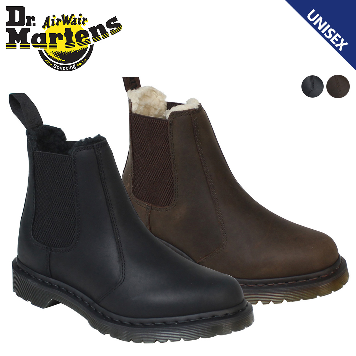 wholesale sales famous brand new lifestyle Dr.Martens doctor Martin side Gore boots Chelsea boot Lady's WOMENS LEONORE  CHELSEA BOOT R16719201 R16720001 men