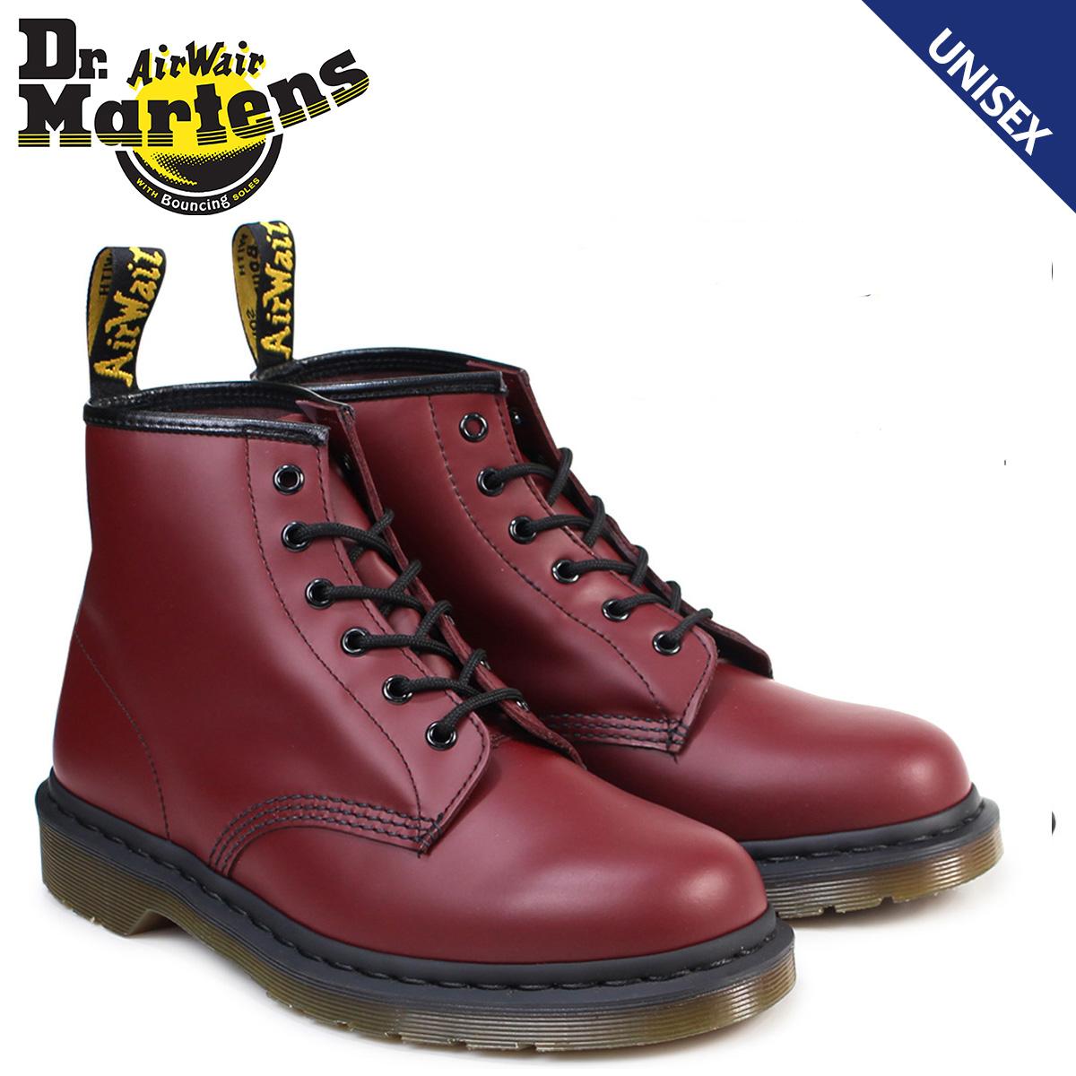 Dr.Martens 6ホール メンズ レディース ドクターマーチン 101 ブーツ 6EYE BOOT R10064600 チェリーレッド 赤