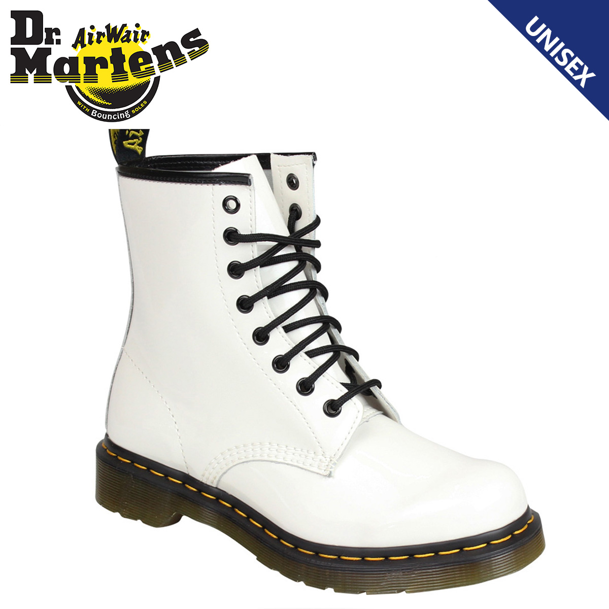 Details about Dr.Martens 1460 White Patent Leather Womens