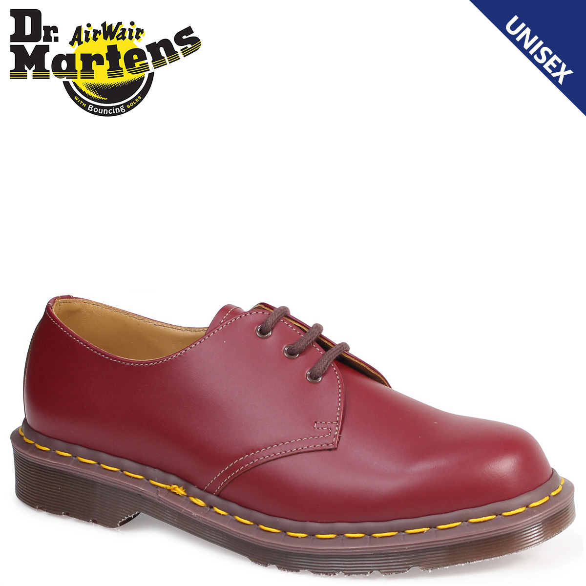 335cf4247ae Dr.Martens 3 hall 1461 men's lady's doctor Martin shoes VINTAGE 3EYE SHOE  MADE IN ENGLAND R12877601 wine red red