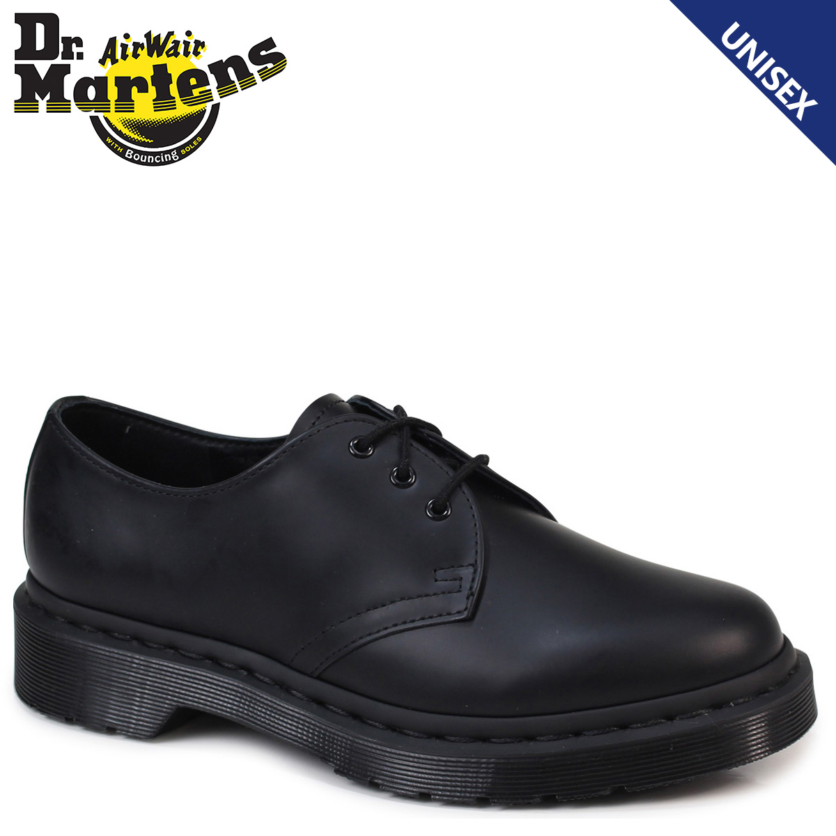 Dr.Martens and☆ 1461 MONO/PART OF THE CORE COLLECTION ☆. 1461 3 Hall shoes  / 3 EYE 1461 SHOE. BLACK