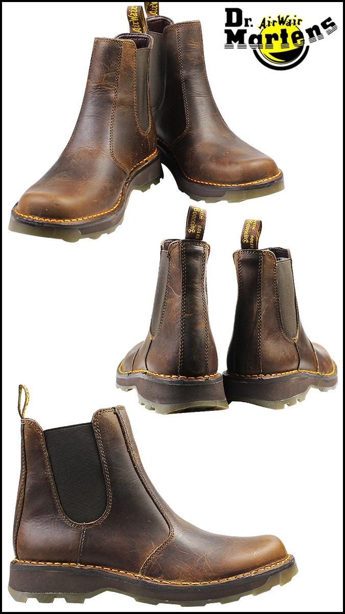 [卖出] 博士马滕斯 Dr.Martens 沃尔特说戈尔靴子沃尔特 · 切尔西启动皮革男装切尔西靴 R16093220 谭