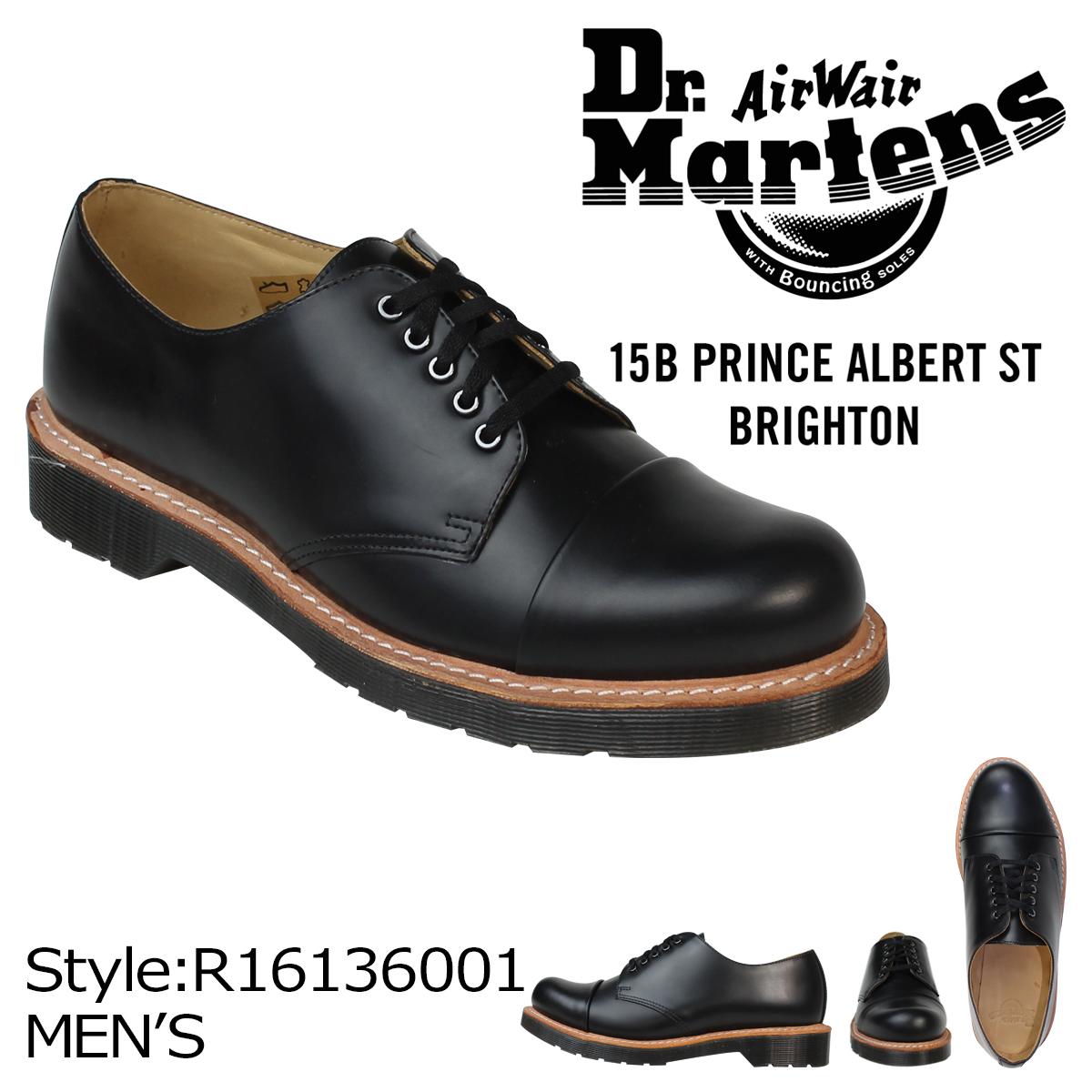 博士马滕斯 Dr.Martens 李厅 5 鞋 LEIGH 5 眼头帽鞋皮革男式两杯皮鞋 R16136001 黑色 [7/8 返回股票]