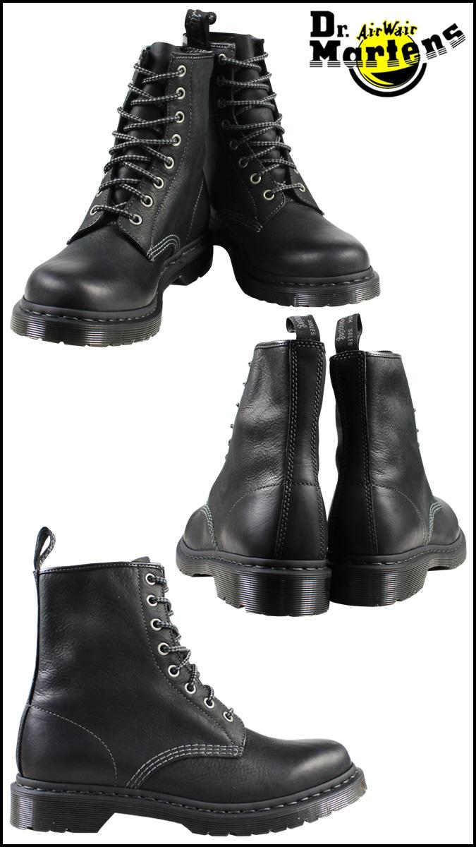 博士马滕斯 Dr.Martens 1460 女士 8 孔靴女性 8 眼引导皮革男装 R16163001 黑色