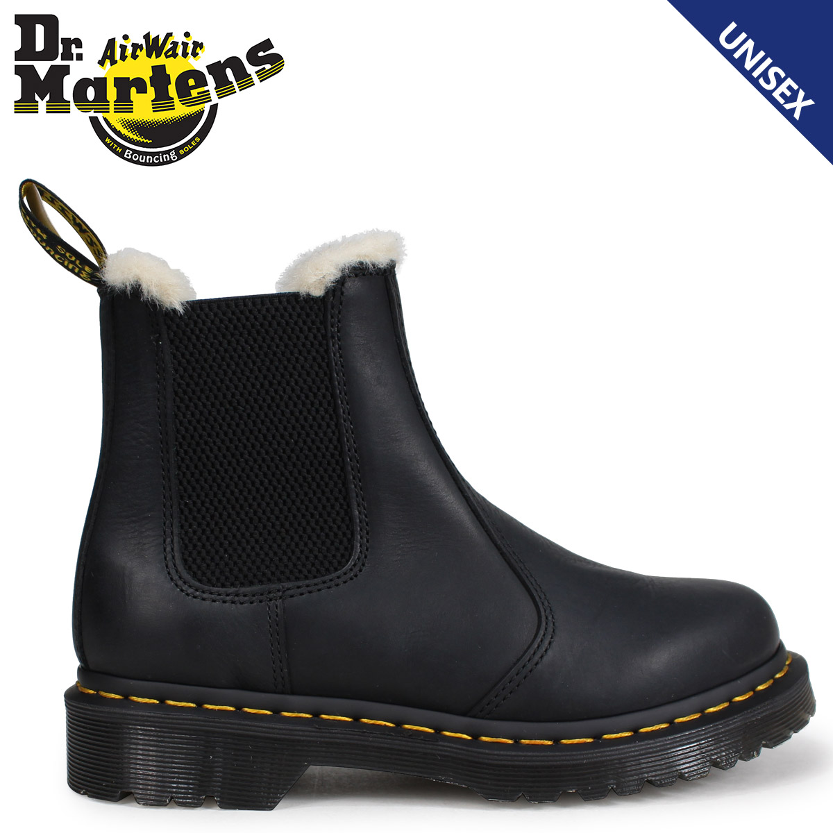 b058dd7fd809 Dr.Martens side Gore 2976 Chelsea boot Lady s doctor Martin LEONORE FUR  LINED CHELSEA BOOT black R21045001  load planned Shinnyu load in  reservation product ...