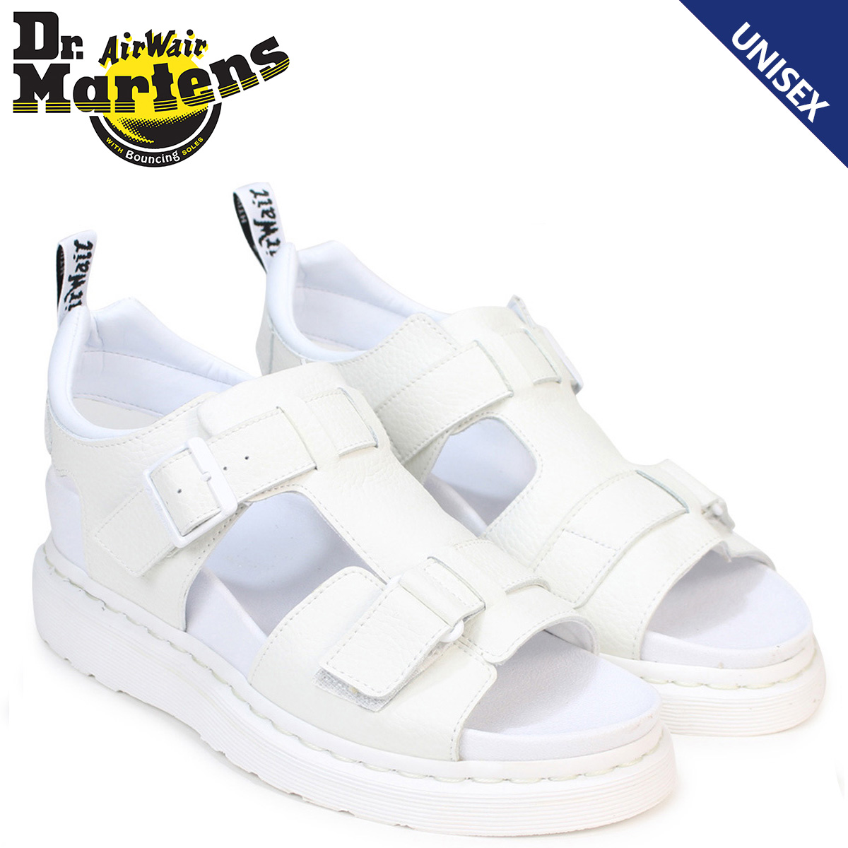 f072119d636 Doctor Martin sandals Lady s men Dr.Martens leather SHORE KAMILAH 2 STRAP  SANDAL 21895100 white  3 29 Shinnyu load