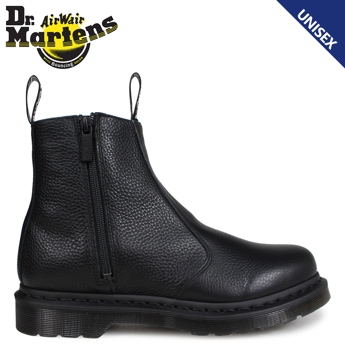 limited guantity 100% top quality top-rated fashion Dr.Martens 2976 Chelsea boot Lady's men doctor Martin WOMENS ZIP CHELSEA  BOOT black black R22133001 [the 9/13 additional arrival]