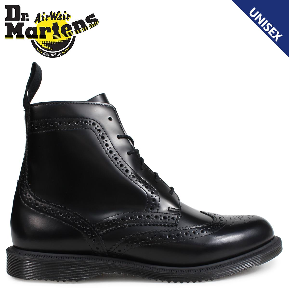 Dr.Martens 6ホール ブーツ レディース メンズ ドクターマーチン DELPHINE BROGUE BOOT ブラック R22650001