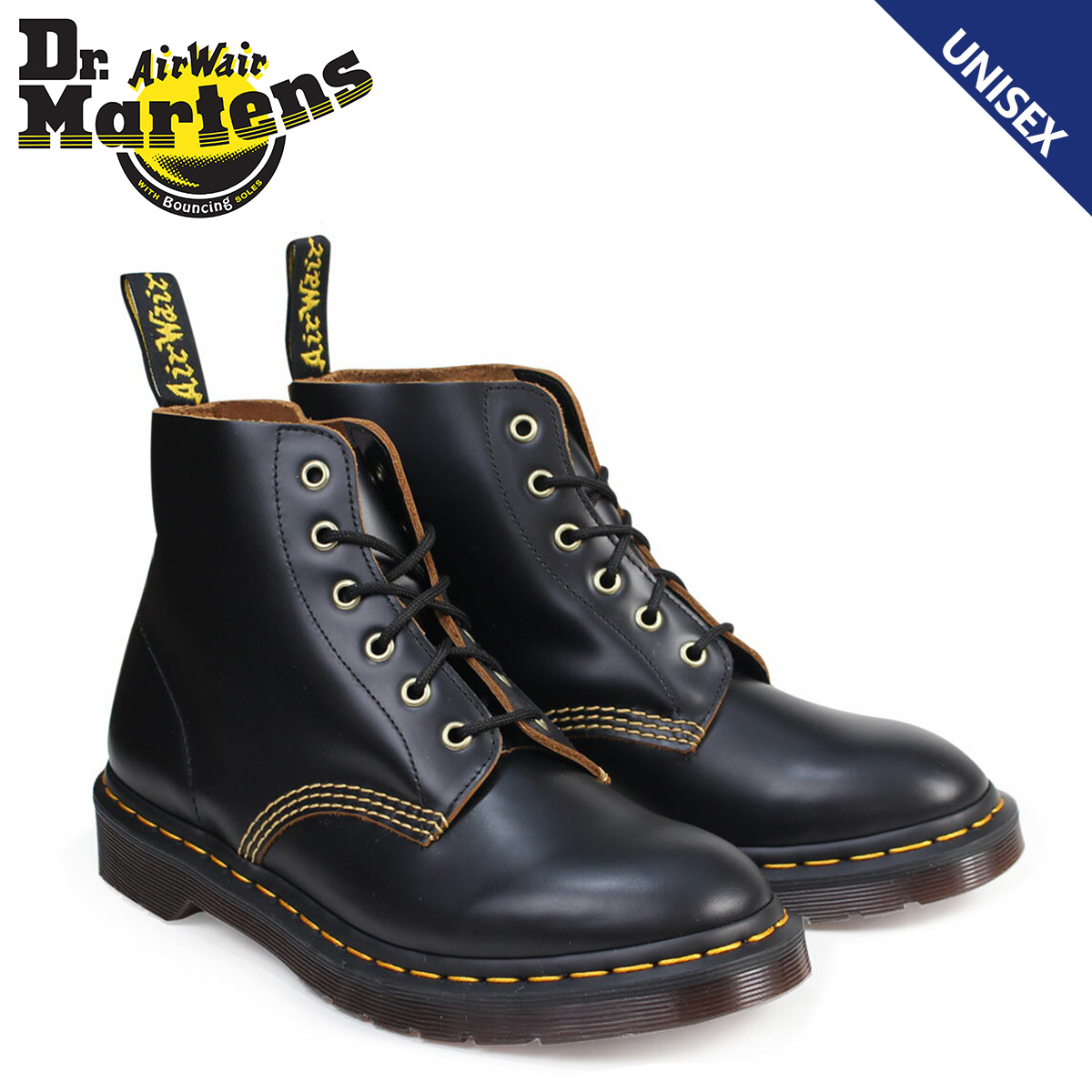 Dr.Martens 6ホール メンズ レディース ドクターマーチン ブーツ ARCHIVE 101 6EYE BOOT R22701001 ブラック [9/26 再入荷]