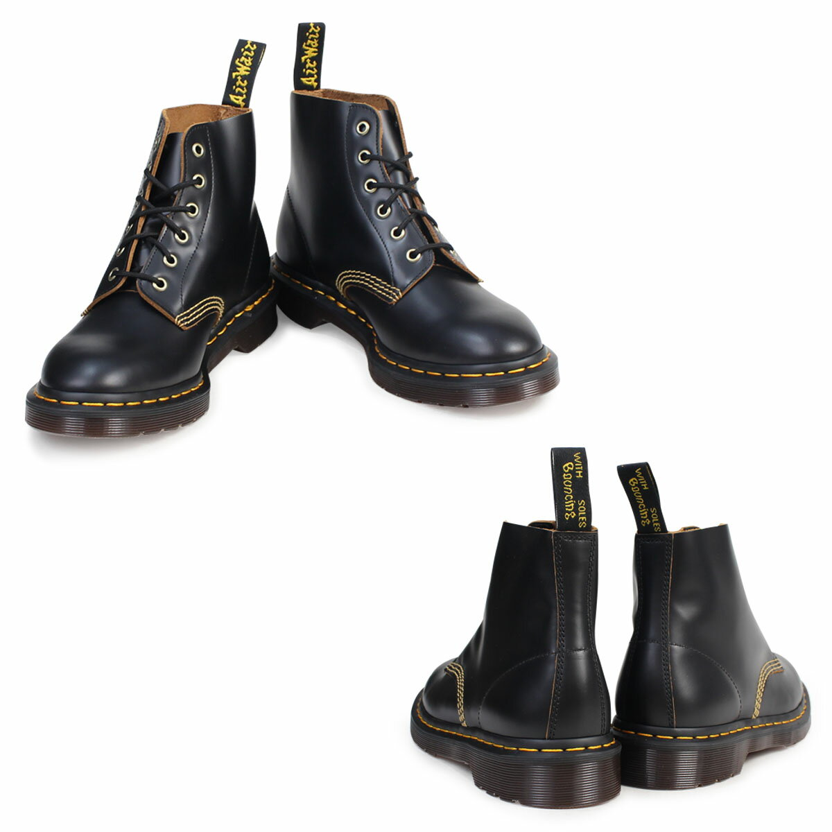 ff7c5ecb70f72 Doctor Martin 6 hall men gap Dis Dr.Martens boots ARCHIVE 101 6EYE BOOT  R22701001 black