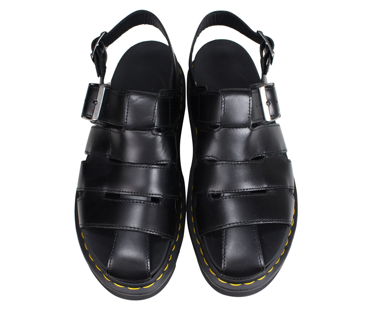 newest buy best genuine shoes Dr.Martens doctor Martin sandals Abel fisherman men gap Dis ABEL black  black R24522001