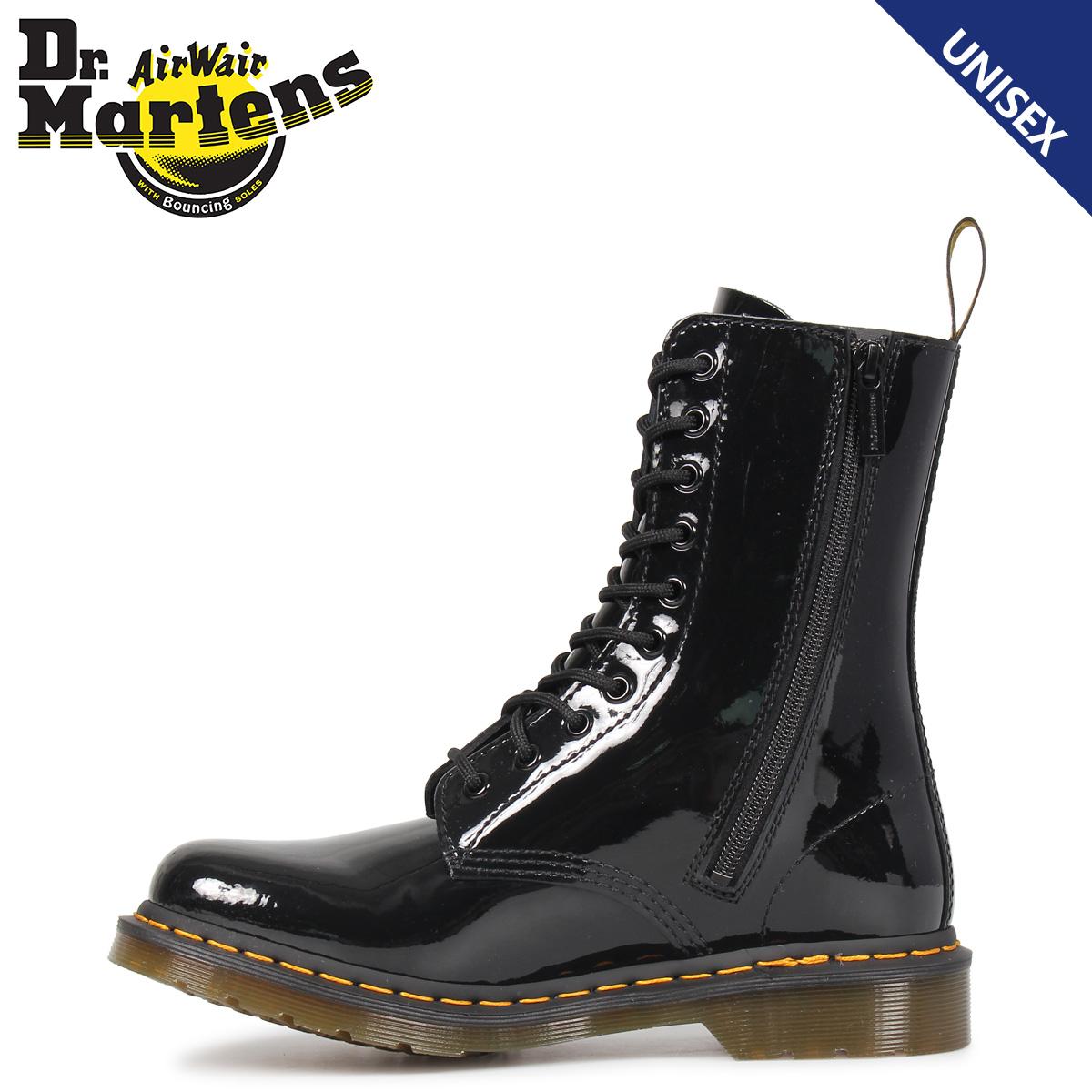 Dr.Martens ドクターマーチン 10ホール 1490 W ブーツ メンズ レディース PATENT LAMPER 10EYE BOOT ブラック 黒 R25277001
