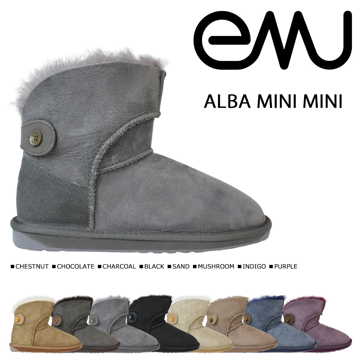 エミュー emu アルバ ミニ ムートンブーツ ALBA MINI MINI W10835 レディース