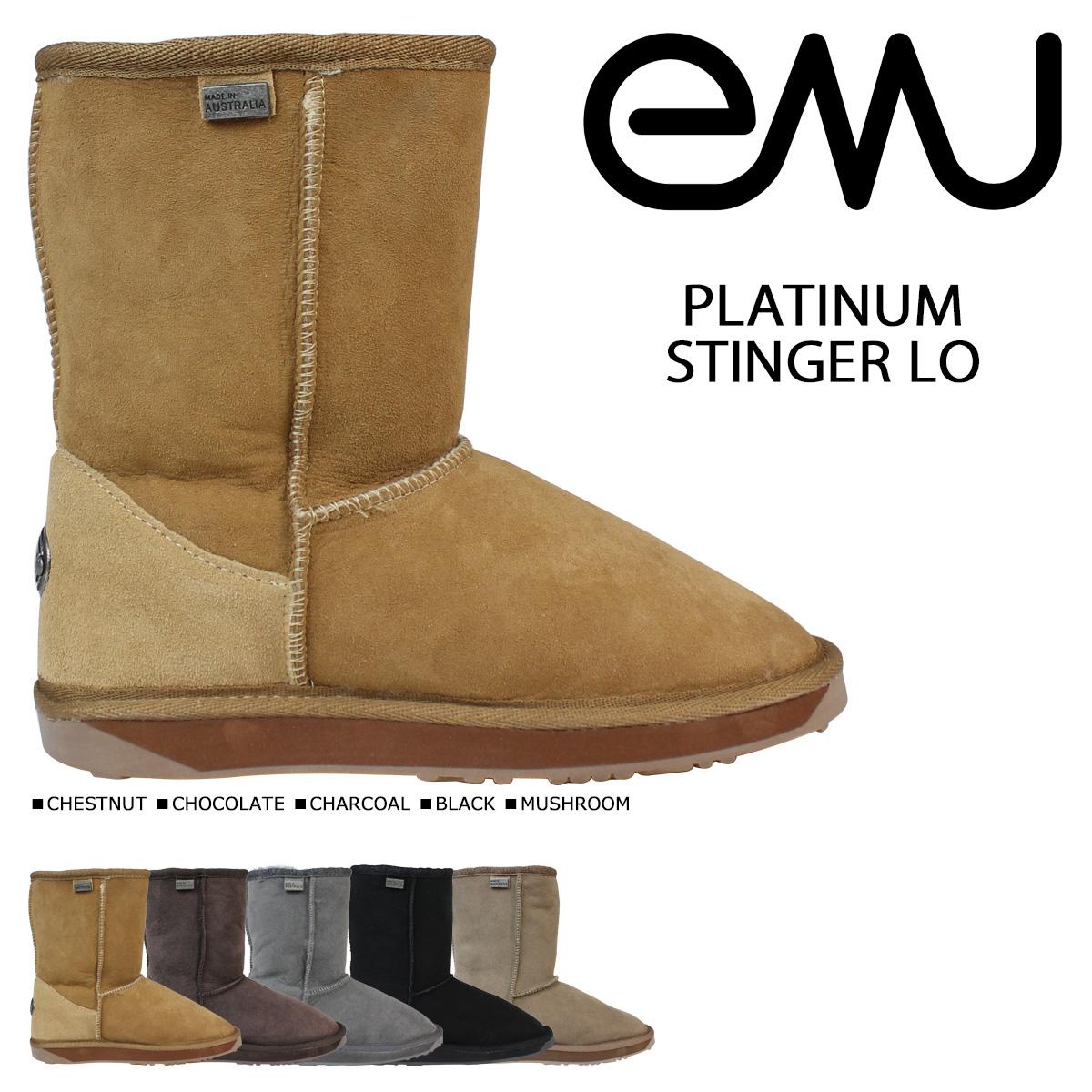 エミュー emu プラチナム スティンガー ロー ムートンブーツ PLATINUM STINGER LO WP10002 レディース