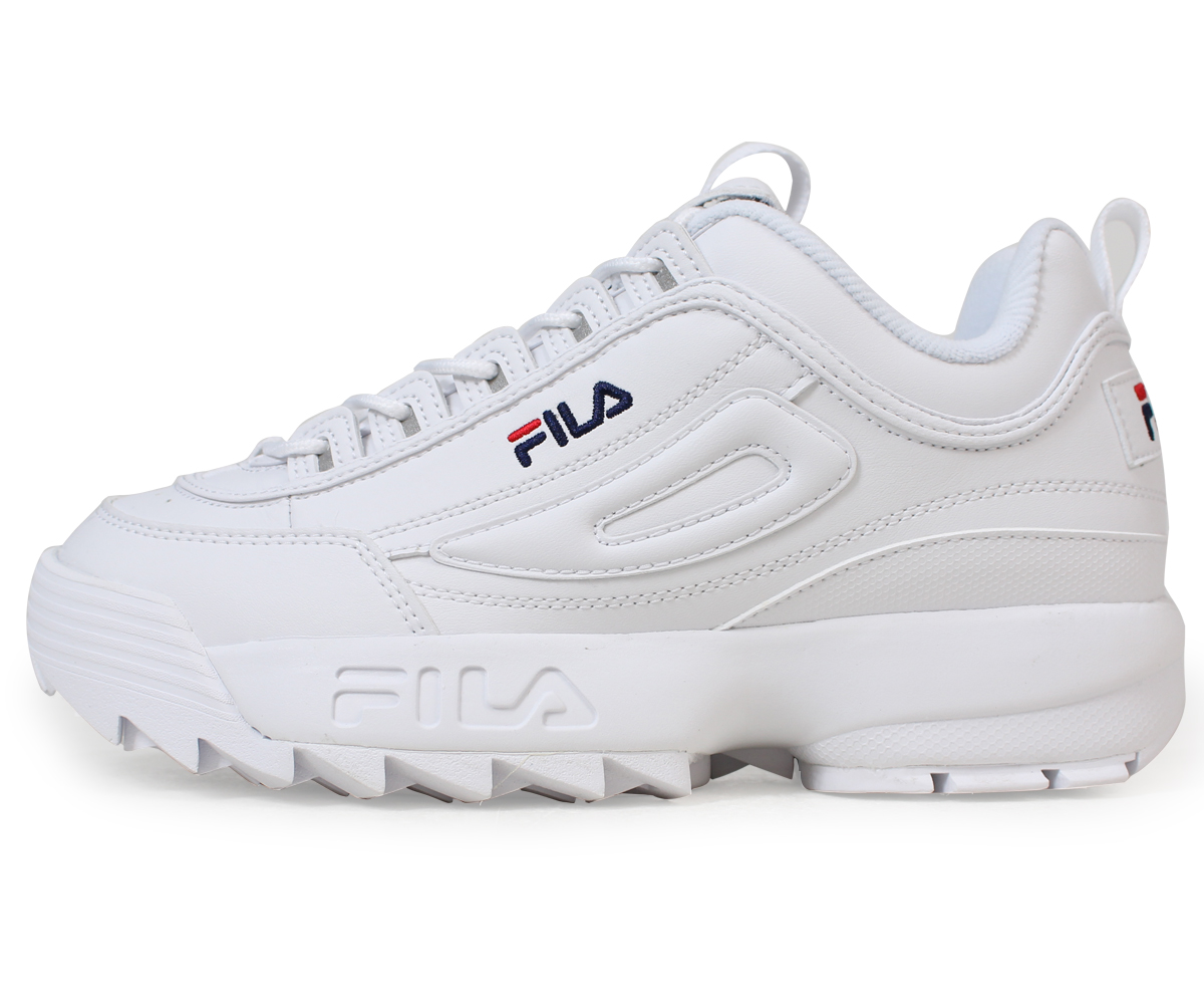 899e67cdacf3 Fila FILA ディスラプター 2 sneakers Lady s men DISRUPTOR 2 white FS1HTA1071X  load  planned Shinnyu load in reservation product 5 11 containing