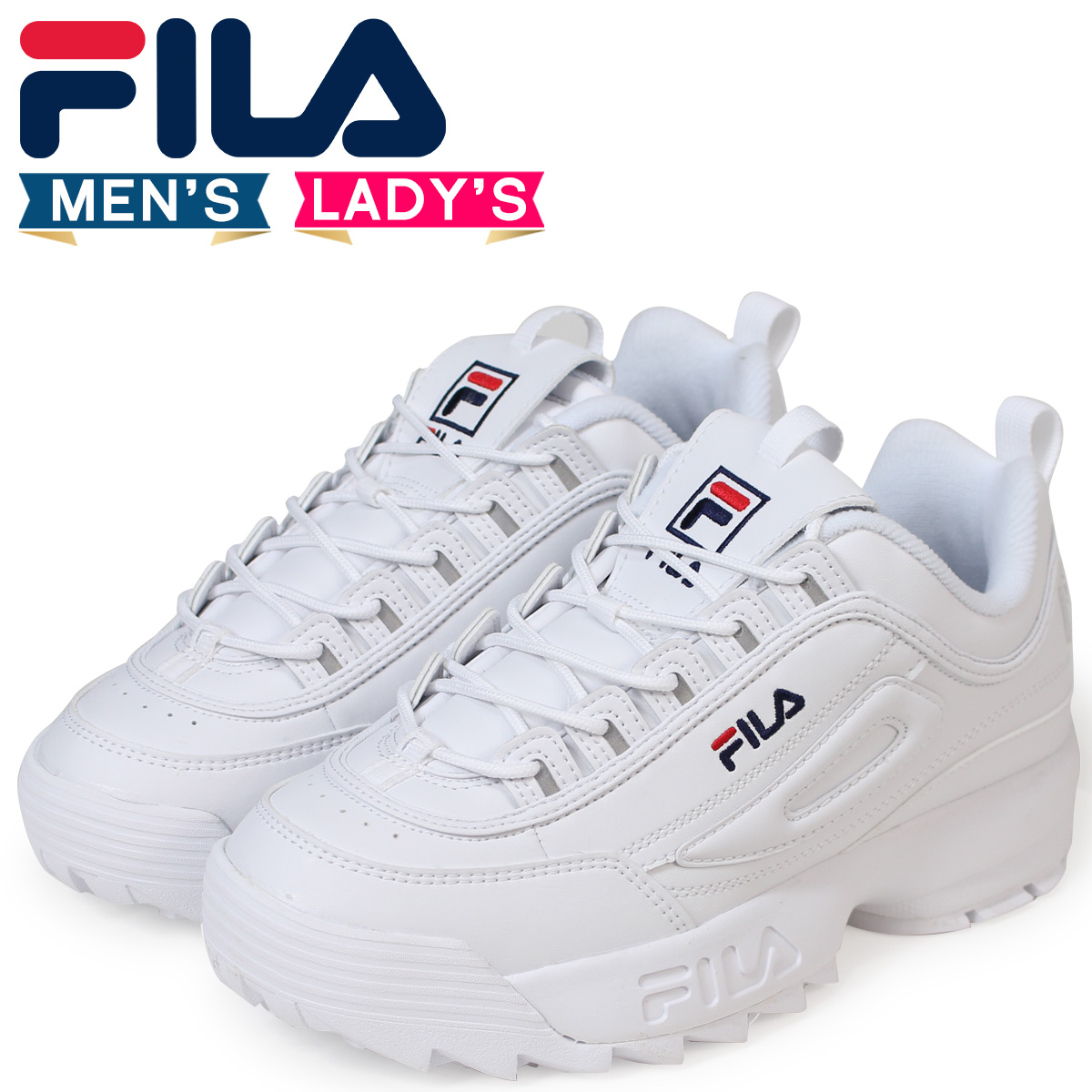 Fila FILA ディスラプター 2 sneakers men gap Dis DISRUPTOR 2 white white FS1HTA1071X