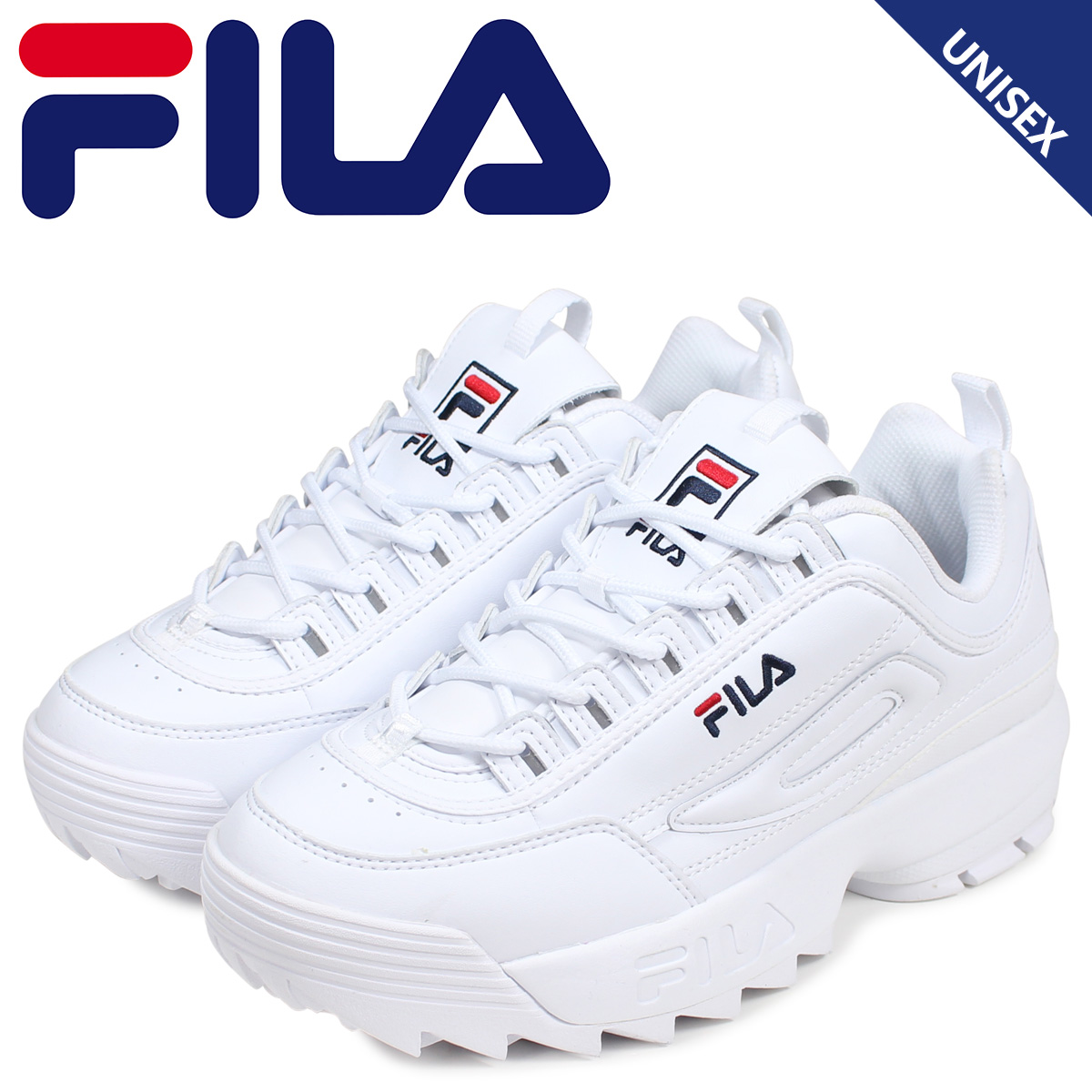 Fila FILA ディスラプター 2 sneakers men gap Dis DISRUPTOR 2 white white FS1HTB1071X