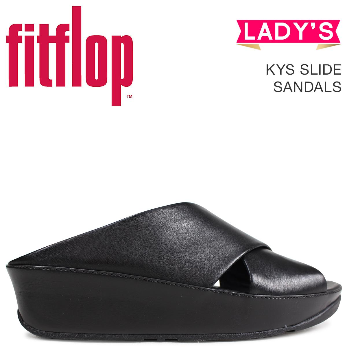 フィットフロップ サンダル FitFlop キーススライド KYS SLIDE SANDALS レディース E29 ブラック