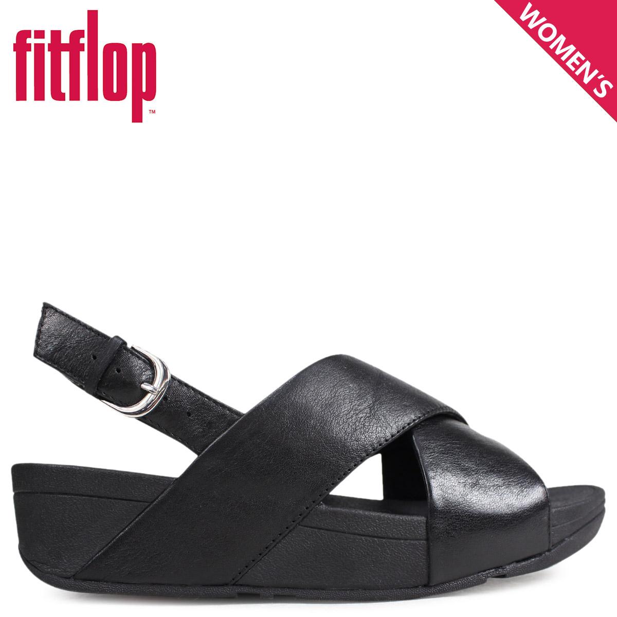 582868b98 Fitting FLOP sandals FitFlop Lulu LULU CROSS BACK-STRAP SANDALS LEATHER  Lady s K03 black  4 4 Shinnyu load