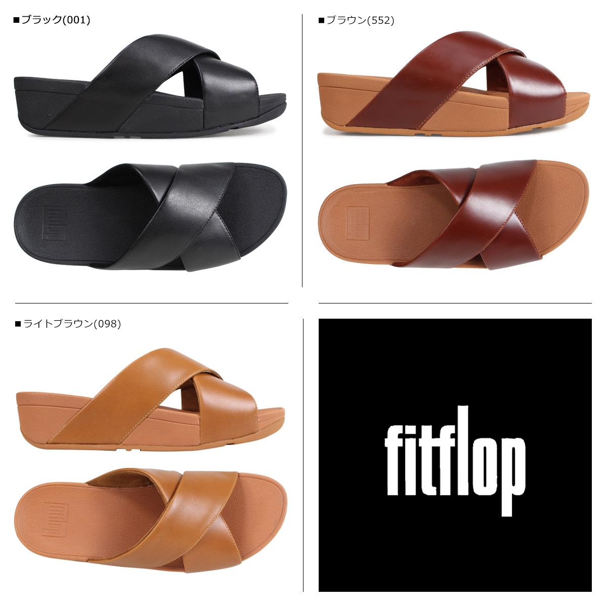 2c4c5f6d5 Fitting FLOP sandals FitFlop Lulu LULU CROSS SLIDE SANDALS Lady s K04 black  brown  4 4 Shinnyu load