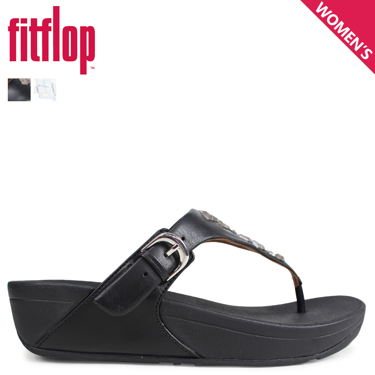 875fef574 Fitting FLOP sandals FitFlop Kinney THE SKINNY TOE-THONG SANDALS CRYSTAL  Lady s K22 black brown  4 4 Shinnyu load